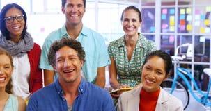 商业主管画象微笑对照相机的 股票视频