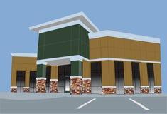 商业earthtone购物中心柔和的淡色彩 库存图片