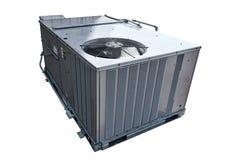 商业HVAC空调器冷凝器爱好者 免版税库存图片