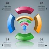 商业Infographics Wi-Fi象 免版税库存照片