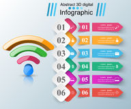 商业Infographics Wi-Fi象 免版税库存图片