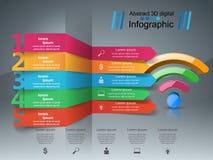 商业Infographics Wi-Fi象 图库摄影