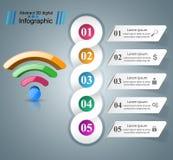 商业Infographics Wi-Fi象 库存图片