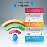 商业Infographics Wi-Fi象 库存照片