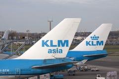 商业KlM飞机 免版税库存照片