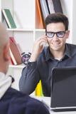 商人与机动性一起使用 免版税图库摄影