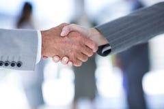 商人与co工作者握手 免版税图库摄影