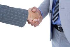 商人与co工作者握手 库存照片