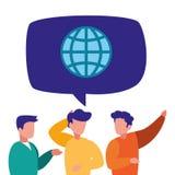 商人交谈世界团队工作 库存例证