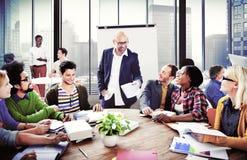 商人会议会议研讨会队配合概念 免版税库存照片