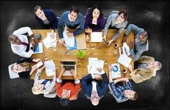 商人会议会议讨论概念 免版税库存照片