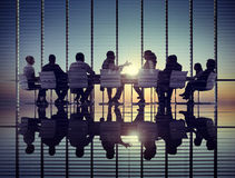 商人公司通信会议办公室概念 免版税库存照片