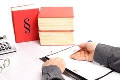 商人写道 免版税图库摄影