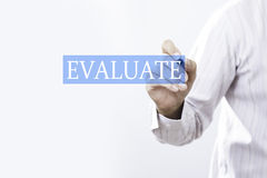 商人凹道评估概念 免版税库存图片