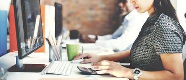 商人分析想法的财务成长成功概念 图库摄影