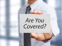 商人和保险概念 免版税库存图片