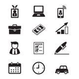 商人和办公室工具 免版税图库摄影