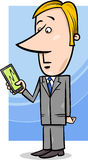 商人和图表在片剂个人计算机 免版税库存图片