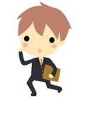 商人和文件 向量例证