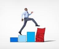 商人和风险消沉概念 免版税库存图片