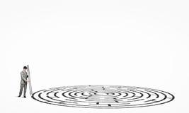 商人图画迷宫 免版税图库摄影
