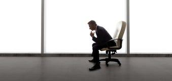 商人在一个空的办公室 库存图片