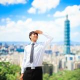 商人在台北 免版税库存照片
