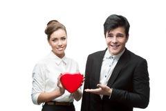 年轻商人夫妇  免版税库存照片