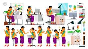 商人字符传染媒介 运作的印度人集合 办公室,创造性的演播室 博若莱红葡萄酒 业务组象征性人的情形 软件 皇族释放例证