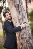 商人容忍树干 免版税图库摄影