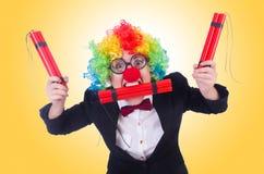 商人小丑 免版税图库摄影