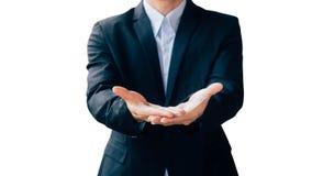 商人展示手标志,数字式网上概念 库存图片