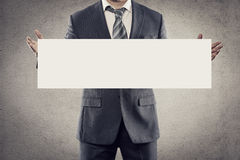 商人广告 免版税库存图片