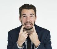商人成人画象职业概念 免版税库存图片