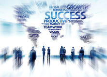 商人成功志向公司目标小组概念 免版税库存照片