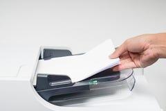 商人打印,复制并且扫描 库存图片