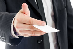 商人提供的卡片 免版税库存照片
