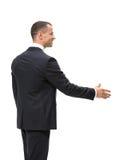 商人握手半身外形  免版税库存照片