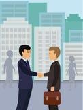 商人握手合作成交配合合作 免版税库存照片