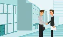 商人握手合作成交配合合作 免版税图库摄影