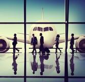 商人旅行机场概念 库存图片