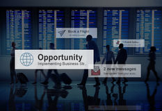 商人旅行的机场目的地概念 免版税图库摄影