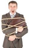 商人栓与尖叫的绳索 免版税库存照片