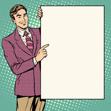 商人海报样式这里您的品牌 库存例证
