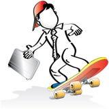 商人溜冰板运动 免版税图库摄影