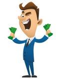 商人漫画人物传染媒介例证bs3 免版税库存图片