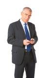商人电话纵向 库存图片