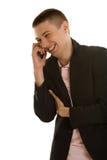 商人电话 库存图片