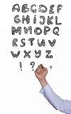商人的手写字母表信  免版税库存照片