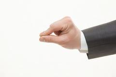 商人的手显示小型 库存图片